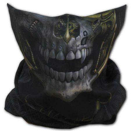 Steam Punk Reaper Face Wrap ist ein Loopschal mit Reaper im Steam Punk Design.