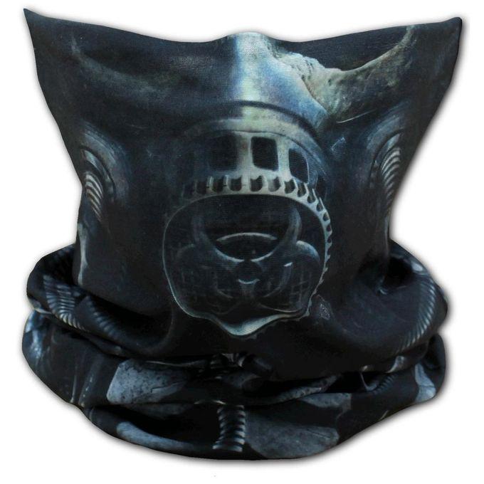 Bio-Skull Face Wrap: Loopschal mit Gasmasken-Skull