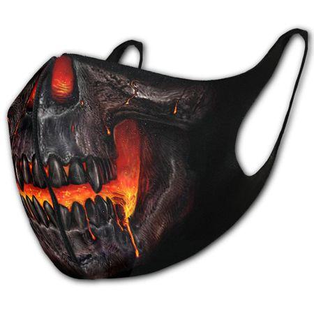 Skull Lava ist ein Mund-Nasen-Schutz mit Lava und Skull Print.