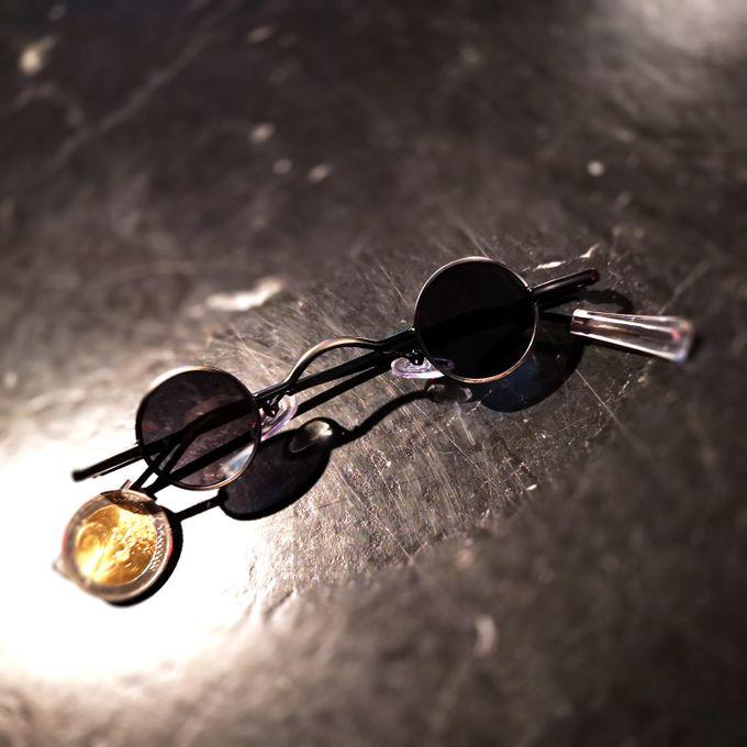 Retro Sonnenbrille mit runden Mini Gläsern