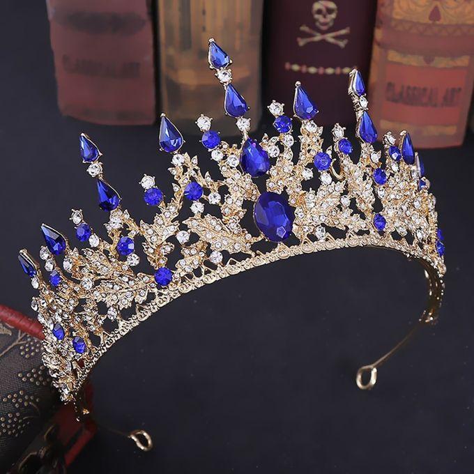 Blue Queen Crown mit blauen Steinen