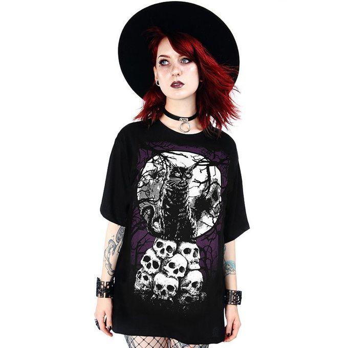Morbid Cat - Gothic Shirt mit Print