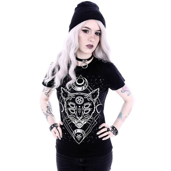 Galaxy Cat - Gothic Shirt mit Print
