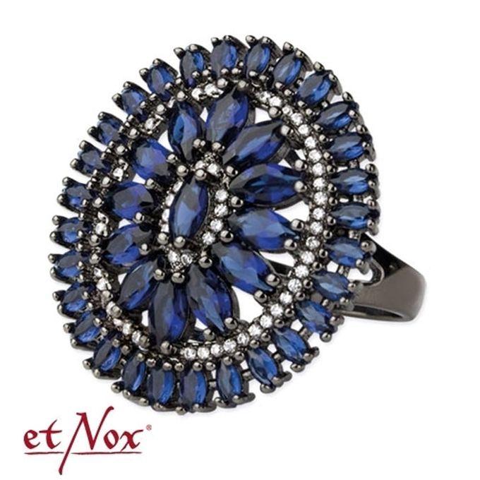 Queens Edition - blauer Elizabeth Ring aus Messing