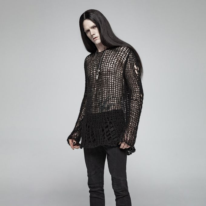 Black Ruin - grobmaschiger Sweater
