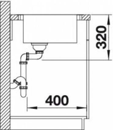 AUSSTELLUNGSSPÜLE BLANCO ANDANO XL 6 S-IF Spüle Edelstahl Seidenglanz Becken links – Bild 7
