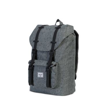 Herschel Little America Mid-Volume Backpack Scatteerd Crosshatch Black