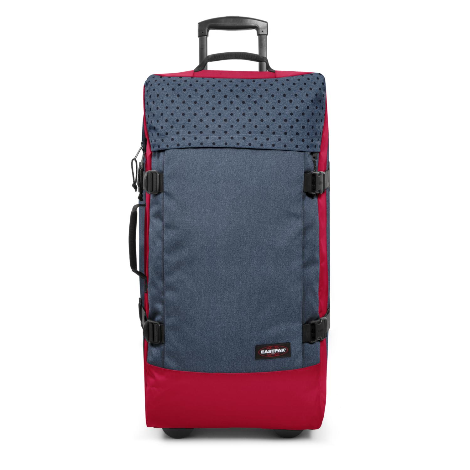 Eastpak Trolley-Reisetasche Tranverz L Blau Mix Dot