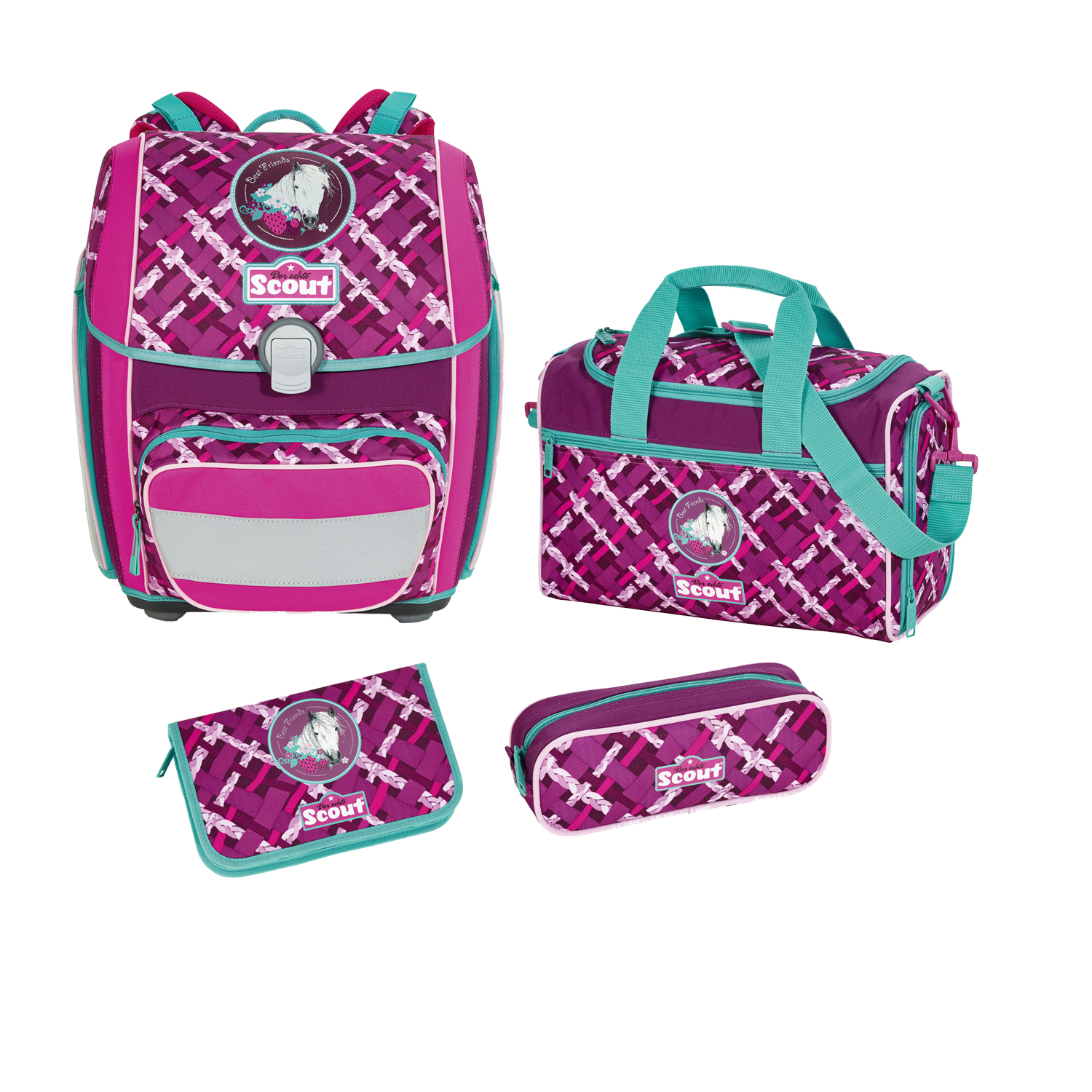 Scout Genius Schulranzen Set 4 tlg Best Friends