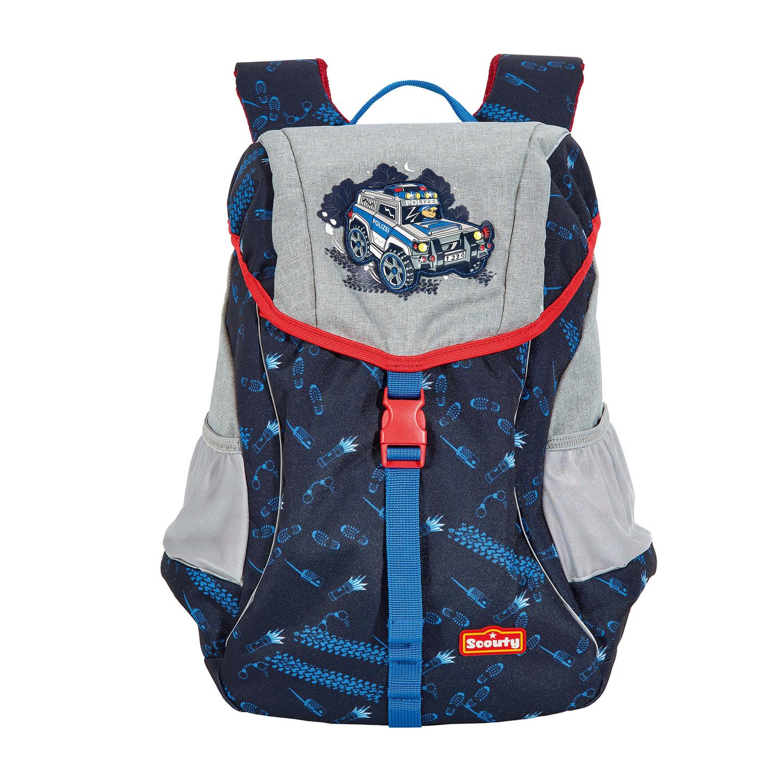 Scouty Rocky Kindergarten Rucksack Supercop Blau Rot