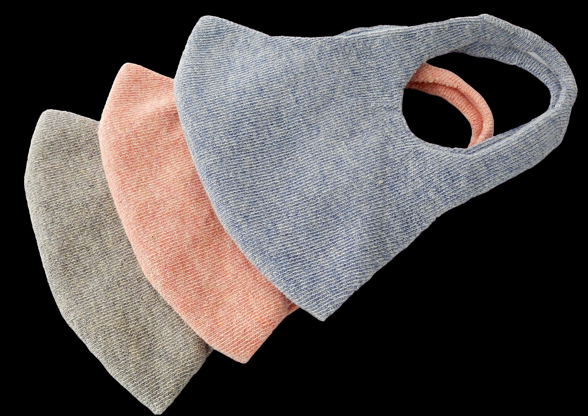 Mund- und Nasenmasken aus Bio-Baumwolle, in pflanzlichen Farben