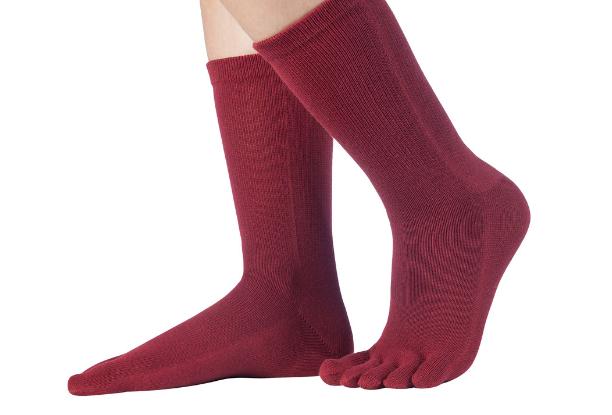 Knitido Essentials Zehensocken aus Baumwolle in schwarz