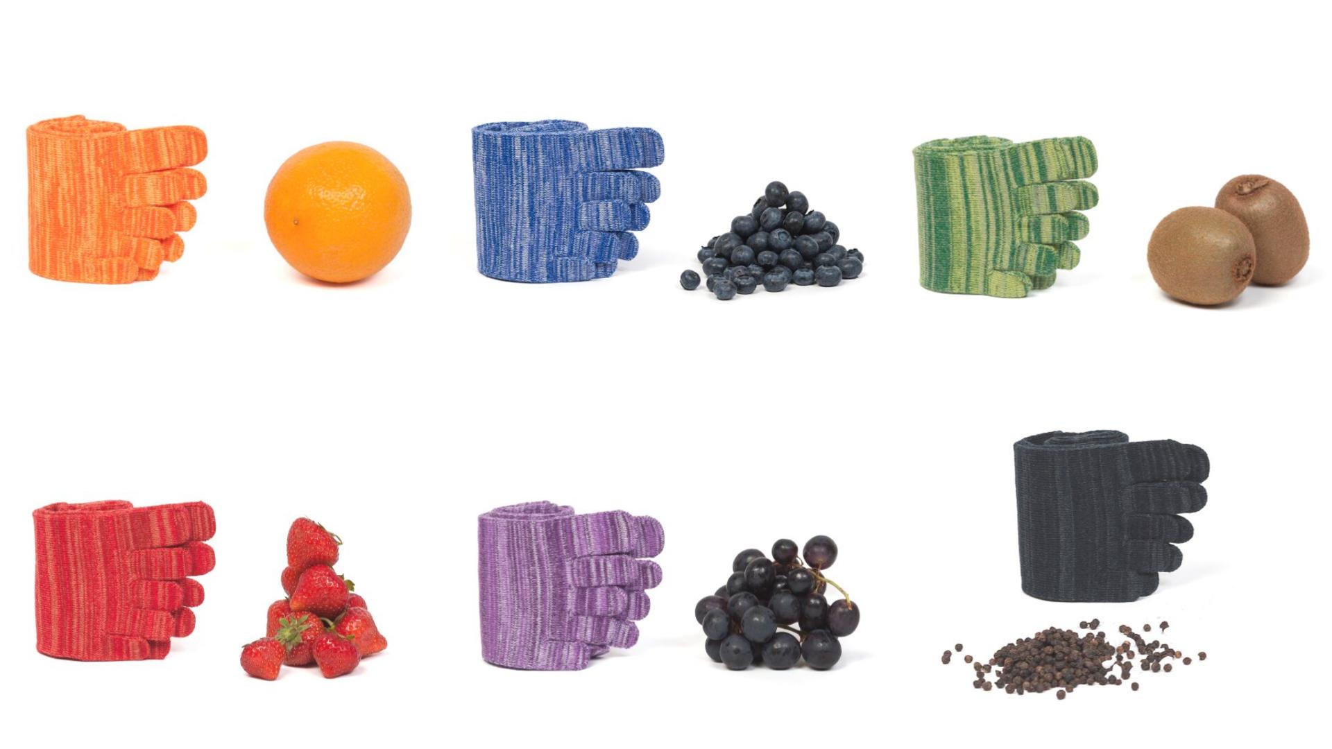 Knitido Fruits and Pepper: bunte Zehensockenfür Damen und Herren mit Obst