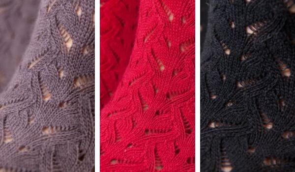 Knitido Lace Zehensocken mit Häkeloptik in drei Farben