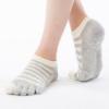 Nagomi Gestreifte Zehensocken ABS für Pilates und Yoga