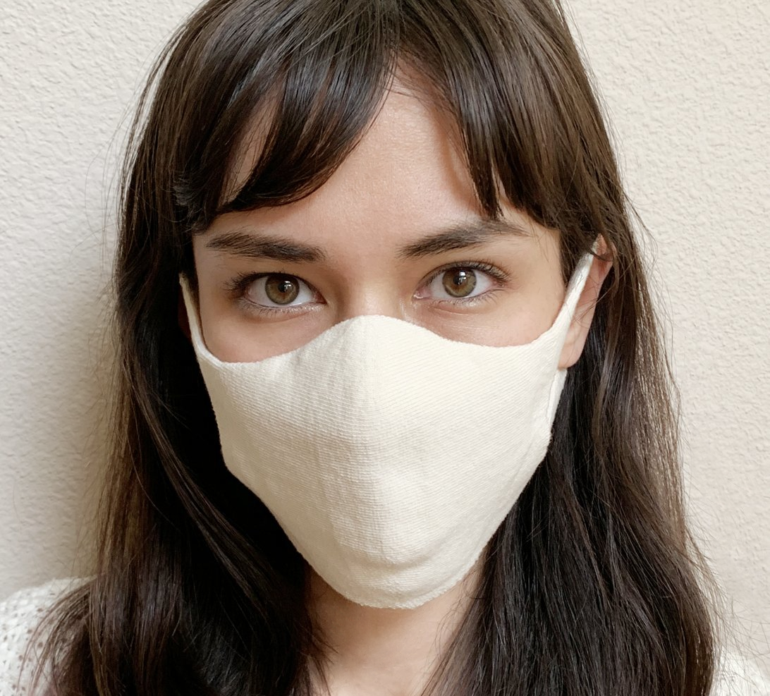 Knitido® mouth and nose mask in soft cotton
