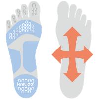 Knitido Plus Balance Zehensocken mit Grip für besseres Gleichgewicht