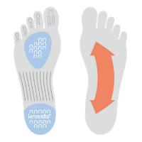 Knitido Plus Zehensocken Pilates und Yoga mit Fußbett für bessere Körperhaltung