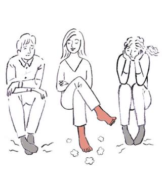 Illustration Zehensocken gegen Fußgeruch