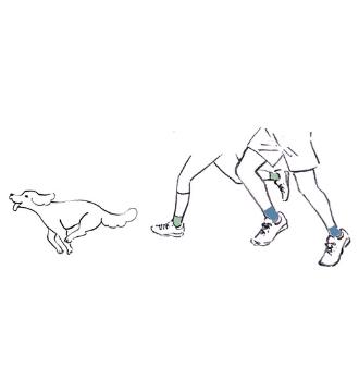 Illustration Zehensocken stärken die Füße