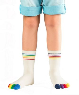 Knitido Rainbow Kids Antirutsch-Zehensocken