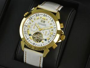 Calvaneo 1583 Astonia  SNOW DIAMOND Gold  Diamantbesatz - Automatikuhr