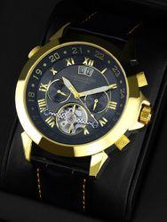 Calvaneo 1583  Astonia  Black Gold Edition  Automatikuhr - Anthrazit-Effekt