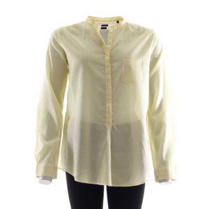 Marc O'Polo Langarm Bluse Gr. 38 Gelb Grün Weiß Gestreift (AHB) 001