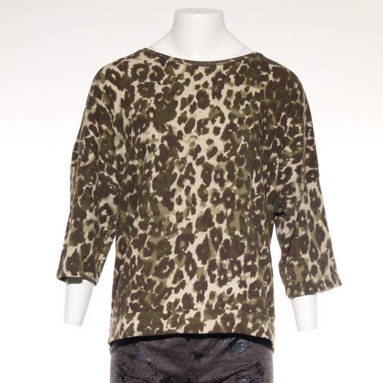 Noisy May Pullover Gr. XL in Cremé Grün Braun mit Leoparden Optik (AHB)