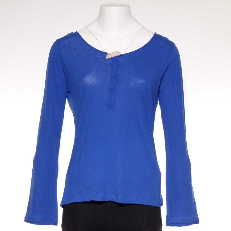 Massimo Dutti Langarm Shirt Gr. 36 Blau (AHB)