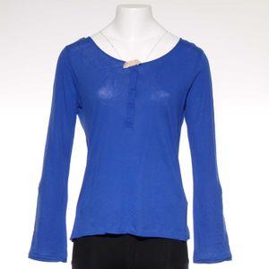 Massimo Dutti Langarm Shirt Gr. 36 Blau (AHB) 001