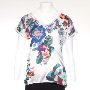 Zara Shirt Gr. S in Weiß mit Floral Print (AHB) 001