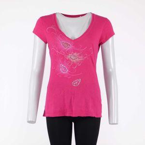 Guess Shirt Gr. L Pink Rosa mit Zierstein Besatz (HH) 001