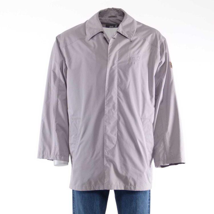 Jack Wolfskin Kurz Mantel Jacke Gr. L in Grau Wasserdicht Atmungsaktiv (AHB) – Bild 1