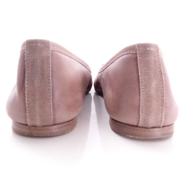 Strenesse Gabriele Strehle Ballerina Schuhe Gr. 36 Braun Echt Leder (AHB) – Bild 4