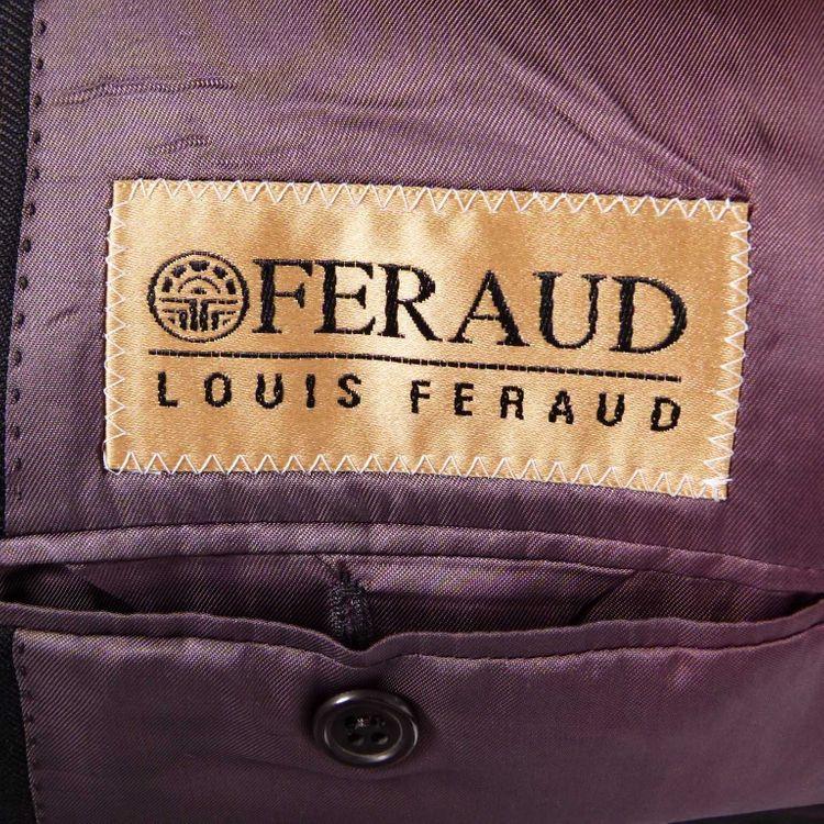 Louis Feraud Anzug Gr. 46 in Schwarz Lila Nadelstreifen (AHB) – Bild 5