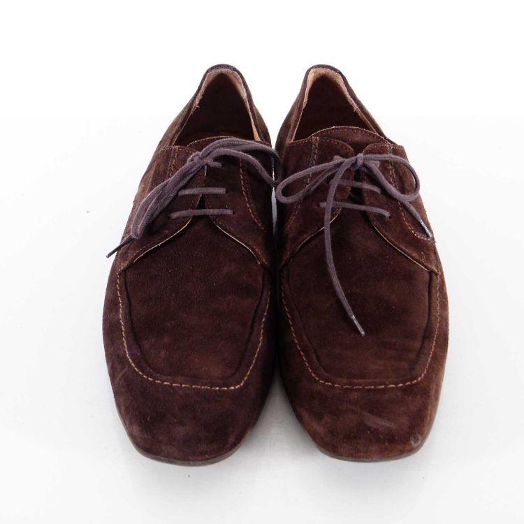 Strellson Derby Leder Schnür Schuhe Gr. 42,5 DE / 8,5 UK Schokoladen Braun (MUC) – Bild 4