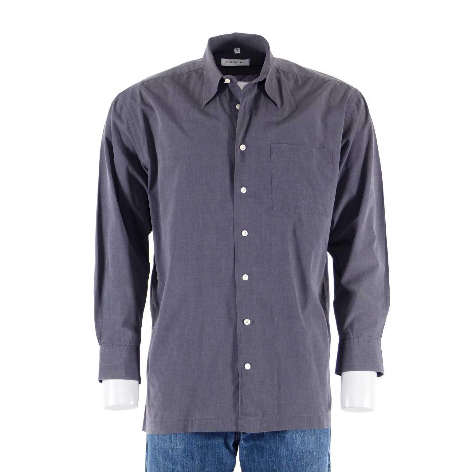 b umler langarm hemd gr 40 m grau ahb men hemden. Black Bedroom Furniture Sets. Home Design Ideas