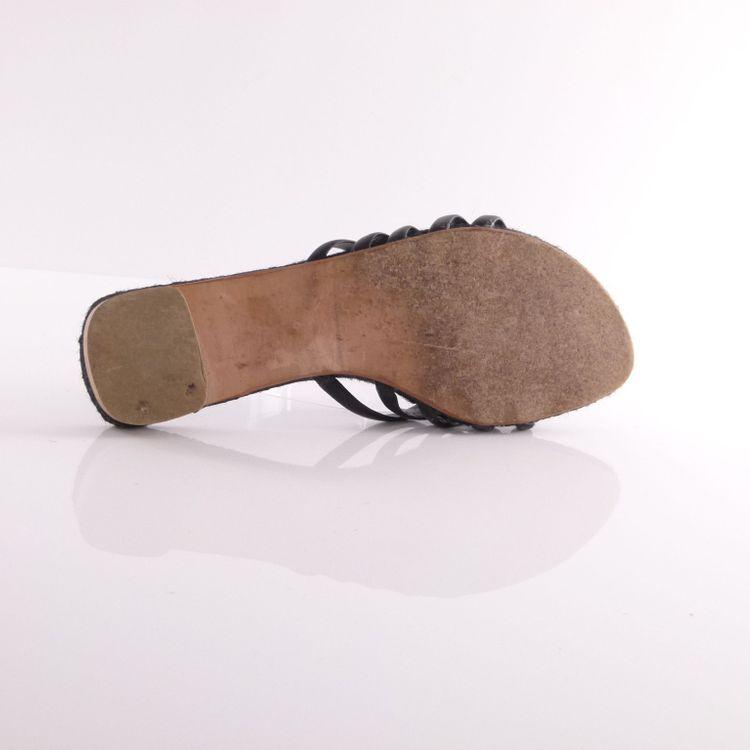 Charles Jourdan Leder Pantoletten Schuhe Gr. 36 DTSCH. / 6 US Schwarz (HH) – Bild 5