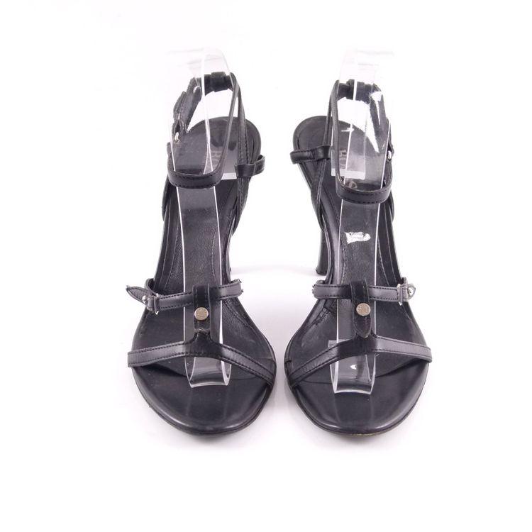 Hugo Boss Riemchen Sandaletten Schuhe Gr 38,5 Schwarz Echt Leder (HH) – Bild 3