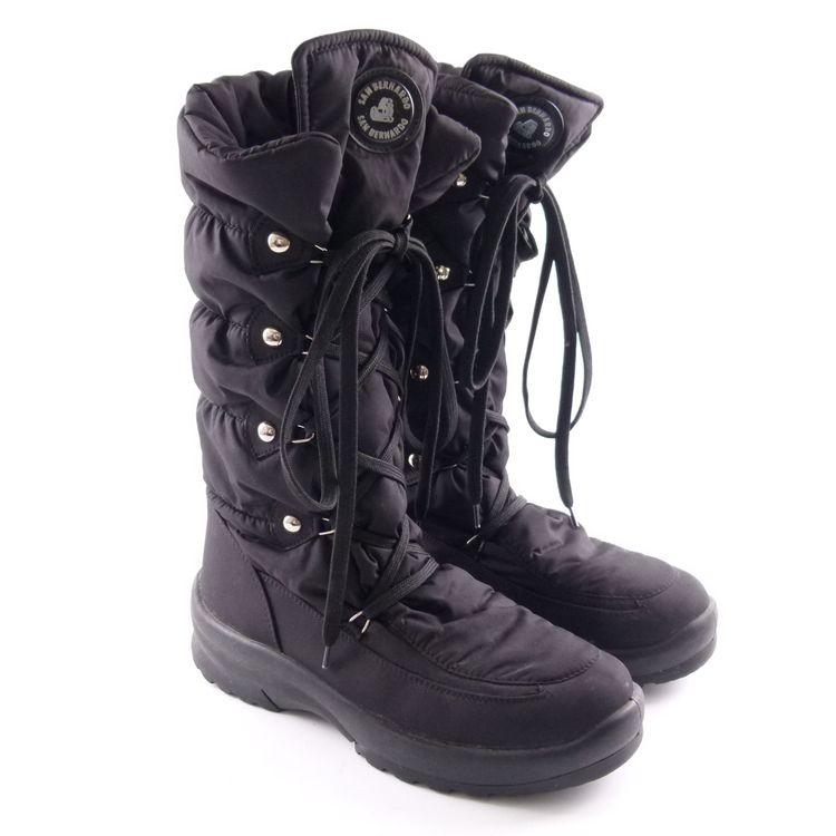 San Bernando Stepp Stiefel Boots Schuhe Gr. 39 Schwarz (HH) – Bild 1