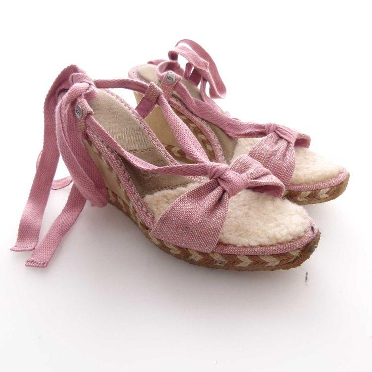 UGG Australia Wedges Keil Sandaletten Gr. 39 / W8 in Rosa Beige (AHB) – Bild 1