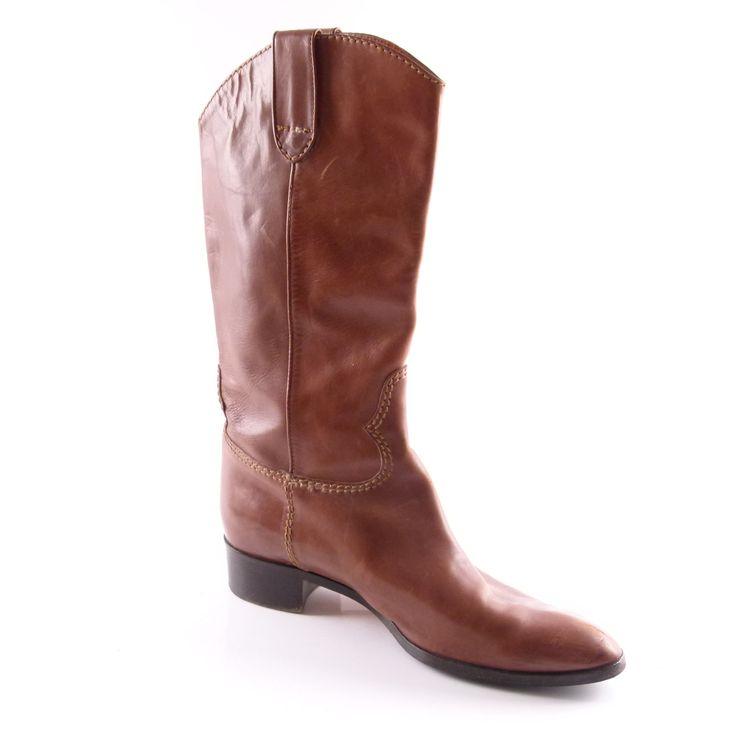 Fratelli Rossetti Leder Boots Stiefel Schuhe Gr. 37 Braun (HH) – Bild 2
