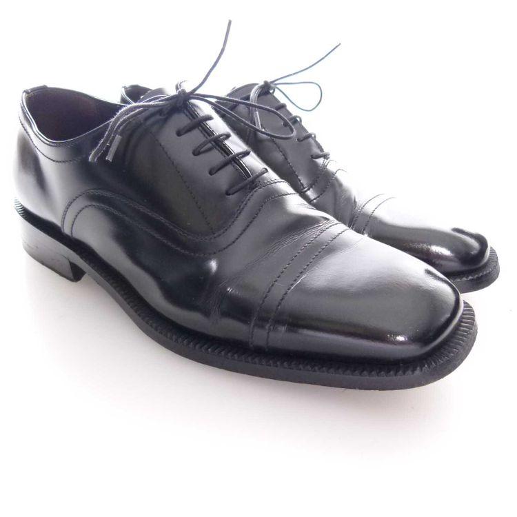 Henderson Cap. Tripon Leder Classic Schnürschuhe Schuhe Gr. 42 in Schwarz (MUC) – Bild 1
