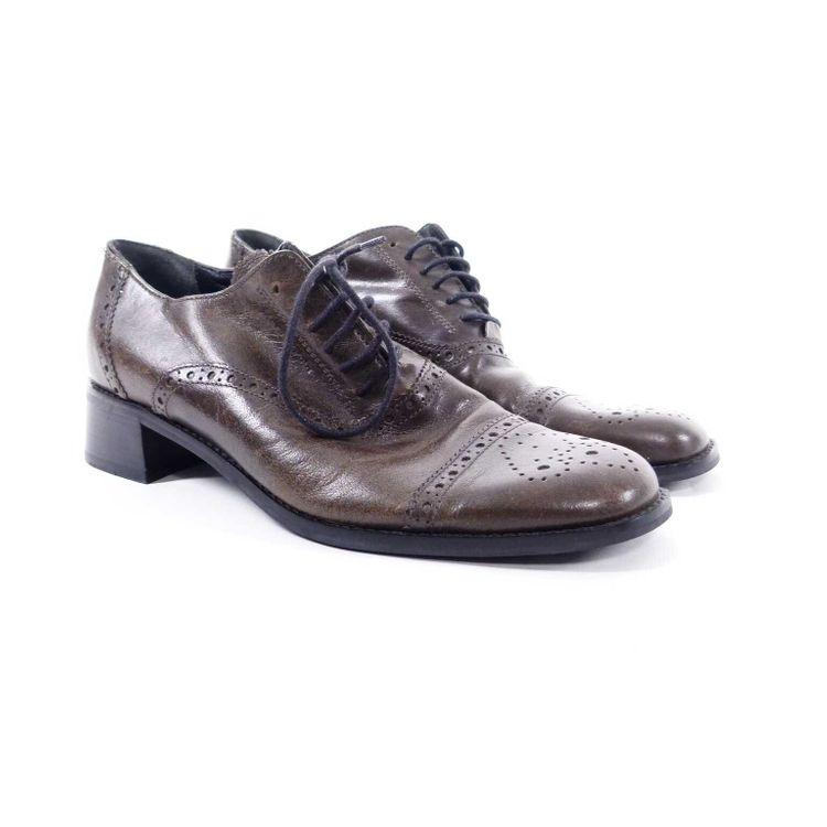 Marc O'Polo Leder Schnürschuhe Schuhe Gr. 36 in Oliv Grau (AHB) – Bild 1