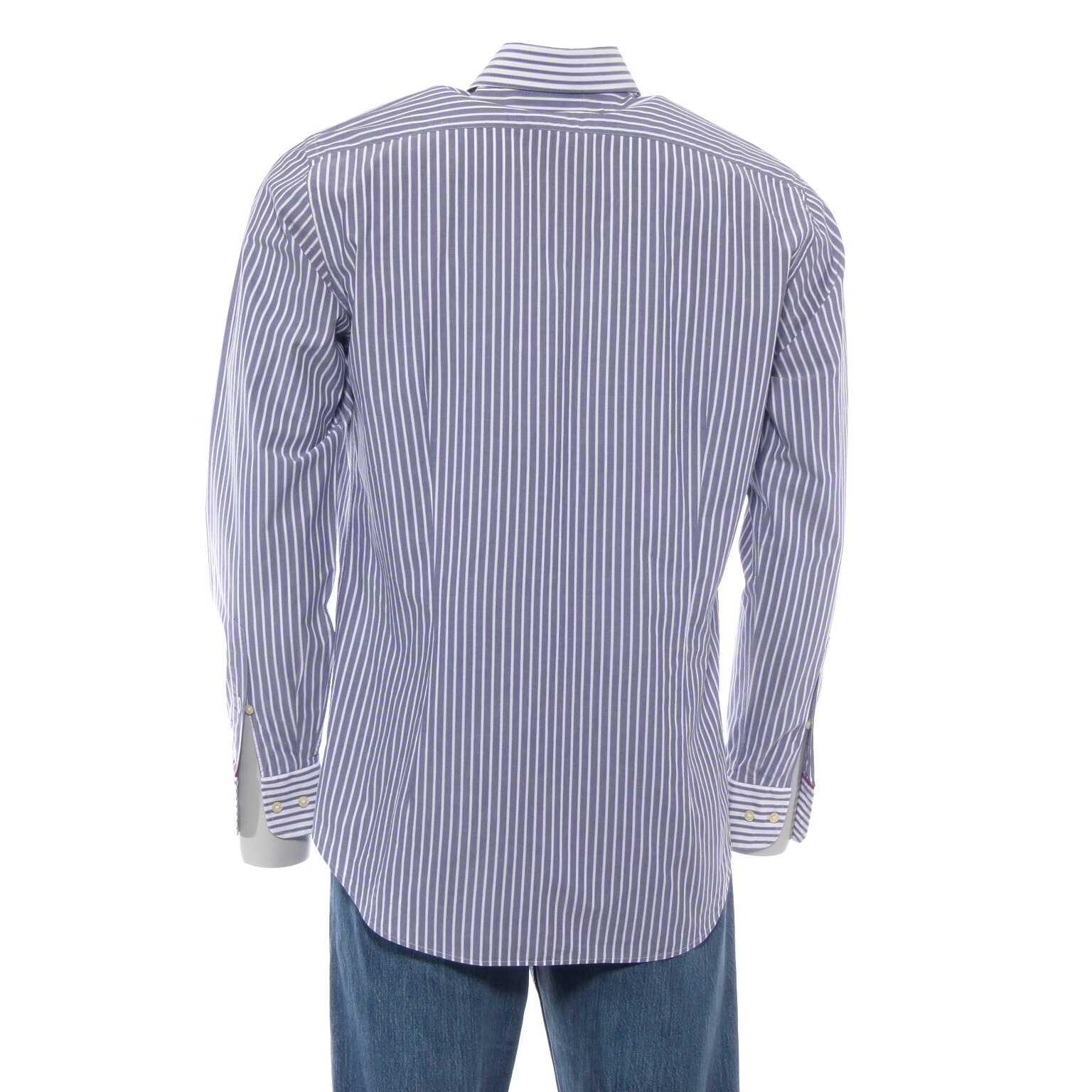 etro hemd gr 41 l blau grau wei gestreift ahb men hemden. Black Bedroom Furniture Sets. Home Design Ideas