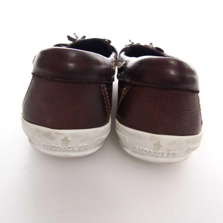 Moncler Leder Quaste Loafer Schuhe Gr. 37 in Dunkel Braun (MUC) – Bild 4