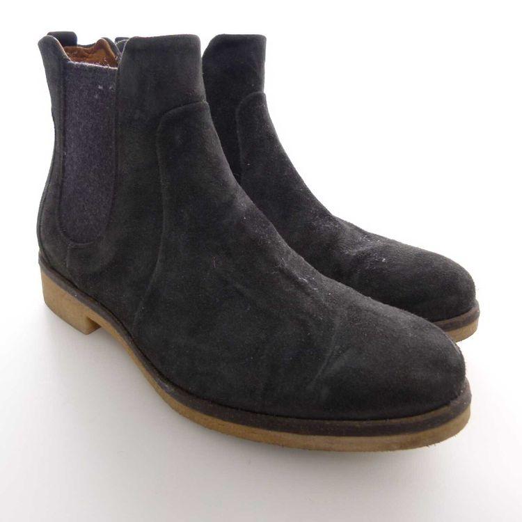 Alberto Fermani Leder Chelsea Boots Stiefeletten Gr. 37 in Graublau Blau (AHB) – Bild 1