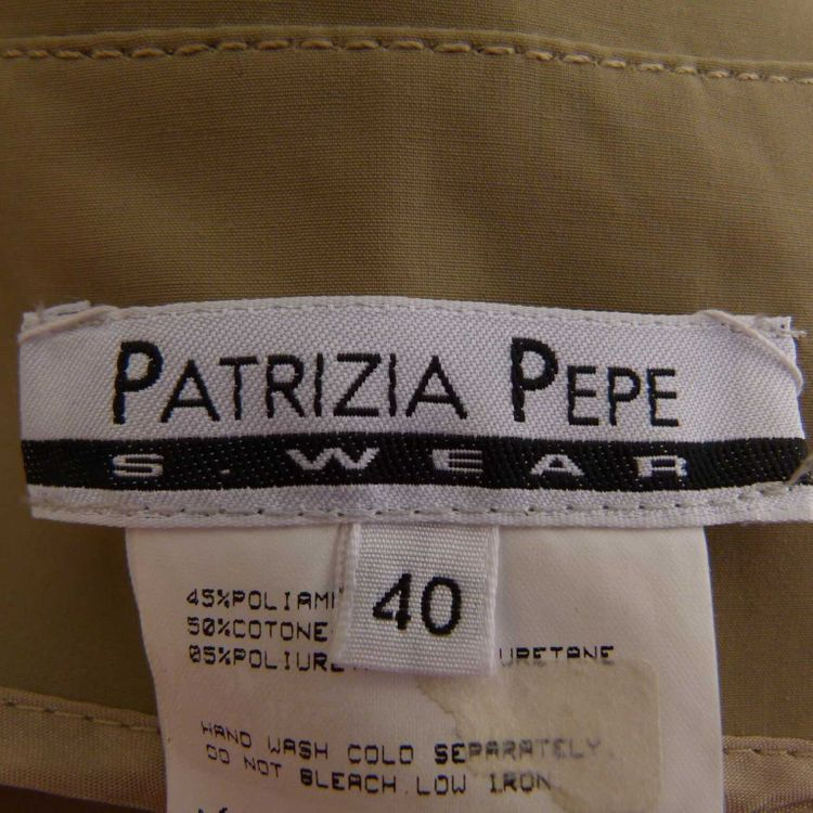Patrizia Pepe Weste Gr. 34 dt. / 40 it. in Grün Beige (MUC) – Bild 3