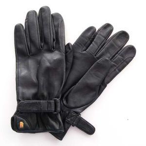 Roeckl Kunstleder Finger Handschuhe Gr. 8 Schwarz (AHB)